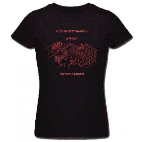 Camiseta Edificio Mujer Negra